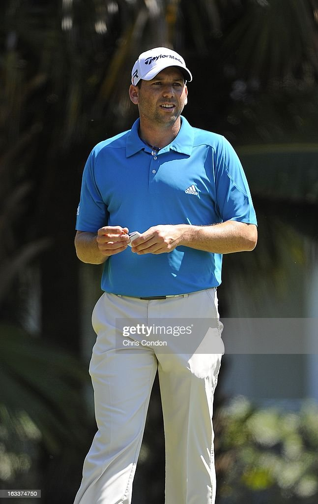 Sergio Garcia of Spain on the 13th hole during the second round of the World Golf Championships-Cadillac Championship at TPC Blue Monster at Doral on March 8, 2013 in Doral, Florida.
