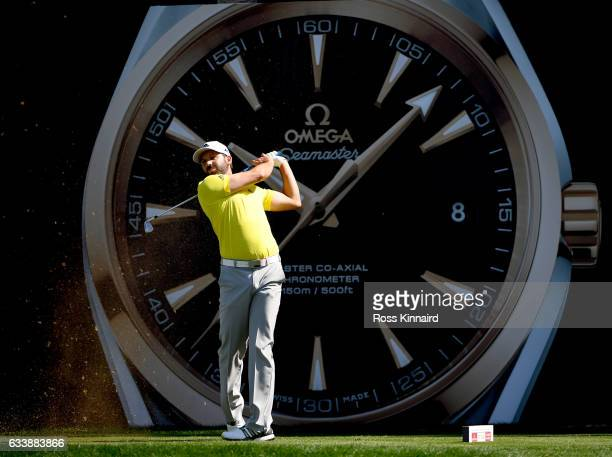 Sergio Garcia of Spain on the 7th tee during the final round of the Omega Dubai Desert Classic at Emirates Golf Club on February 5 2017 in Dubai...