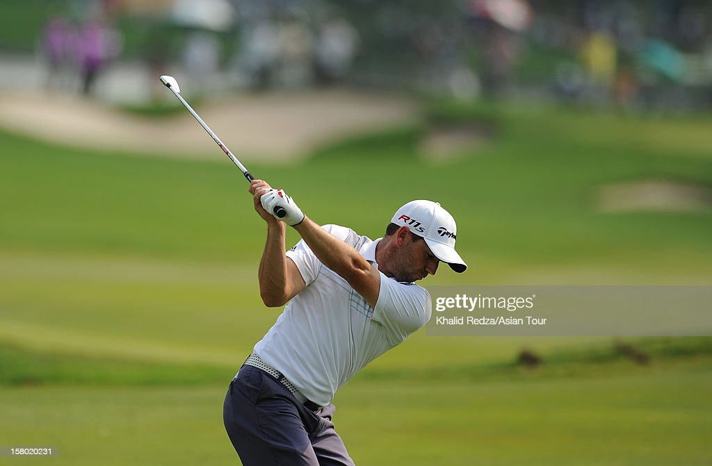 Sergio Garcia of Spain plays a shot during round four of the Thailand Golf Championship at Amata Spring Country Club on December 9, 2012 in Bangkok, Thailand.