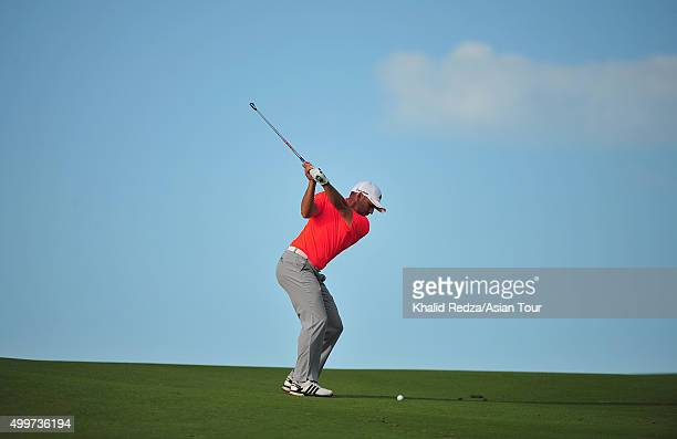 Sergio Garcia of Spain plays a shot during round one of the Ho Tram Open at The Bluffs Ho Tram Strip on December 3 2015 in Ho Chi Minh City Vietnam