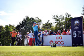 Sergio Garcia of Spain plays a shot during round three of the Thailand Golf Championship at Amata Spring Country Club on December 13 2014 in Chon...