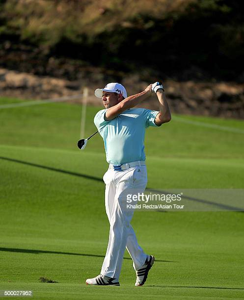 Sergio Garcia of Spain plays a shot during round three of the Ho Tram Open at The Bluffs Ho Tram Strip on December 5 2015 in Ho Chi Minh City Vietnam