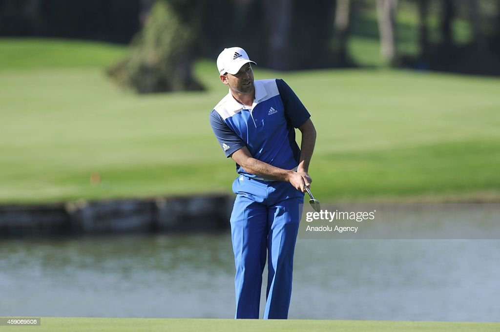 Sergio Garcia of Spain plays a shot during the 4th day of the Turkish Airlines Open 2014 at the Montgomerie Maxx Royal on November 16 2014 in Antalya...