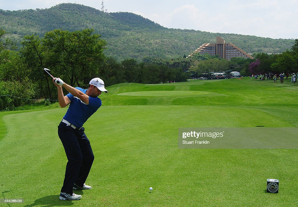Sergio Garcia of Spain plays a shot during the final round of the Nedbank Golf Challenge at Gary Player CC on December 8, 2013 in Sun City, South Africa.