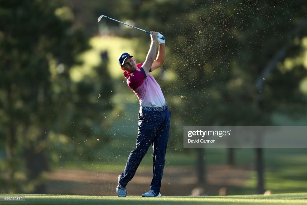 Sergio Garcia of Spain plays his second shot on the 17th hole during the third round of the 2017 Masters Tournament at Augusta National Golf Club on April 8, 2017 in Augusta, Georgia.