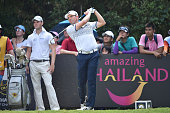 Sergio Garcia of Spain plays the shot during the final round of the 2015 Thailand Open at Amata Spring Country Club on December 13 2015 in Chon Buri...