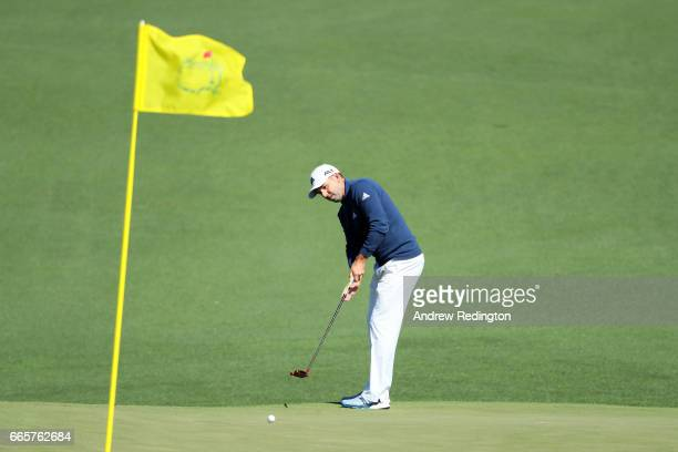 Sergio Garcia of Spain putts on the second green during the second round of the 2017 Masters Tournament at Augusta National Golf Club on April 7 2017...