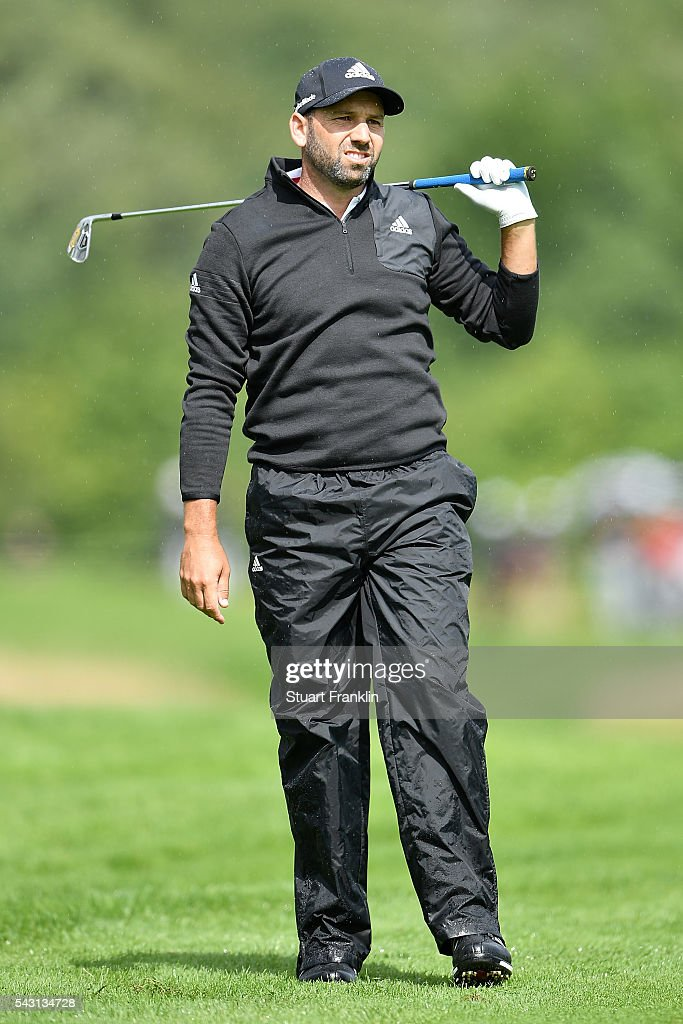 Sergio Garcia of Spain reacts during the final round of the BMW International Open at Gut Larchenhof on June 26, 2016 in Cologne, Germany.
