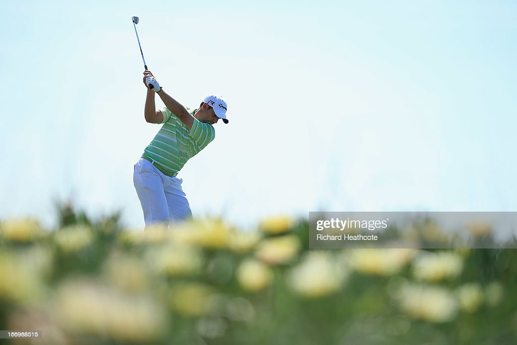 Sergio Garcia of Spain tee's off at the 9th during the second round of the Open de Espana at Parador de El Saler on April 19 2013 in Valencia Spain
