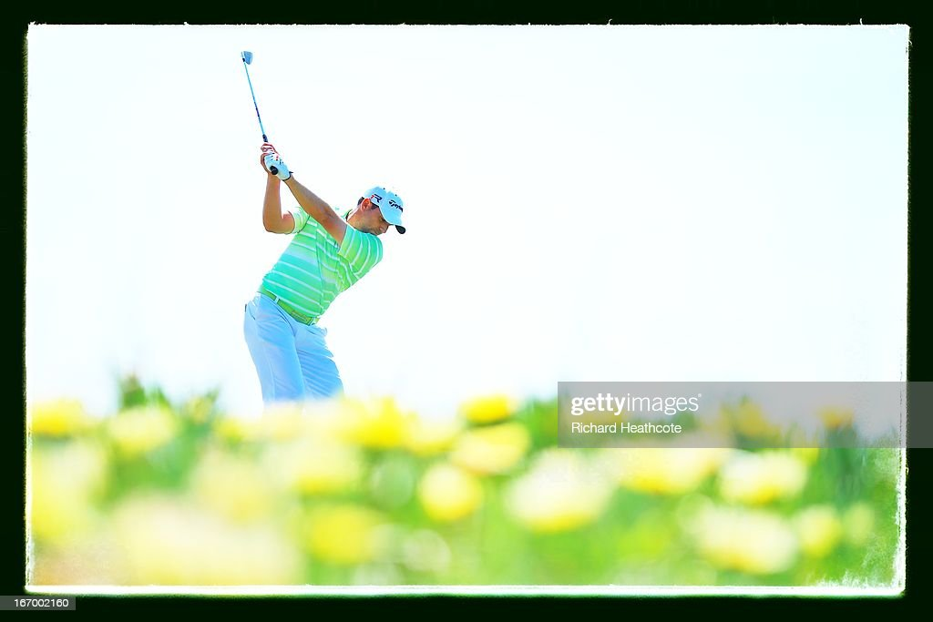 Sergio Garcia of Spain tee's off at the 9th during the second round of the Open de Espana at Parador de El Saler on April 19, 2013 in Valencia, Spain.