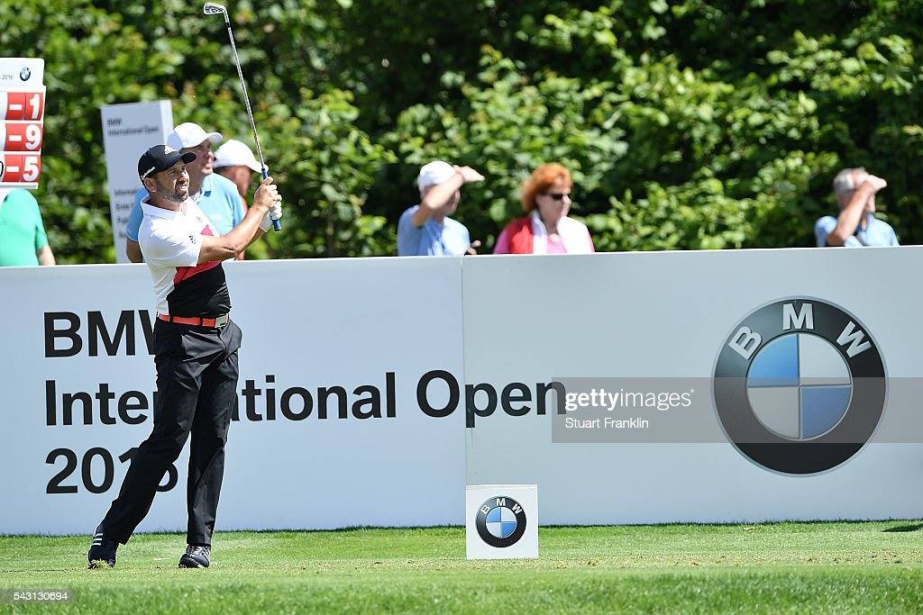 <a gi-track='captionPersonalityLinkClicked' href=/galleries/search?phrase=Sergio+Garcia+-+Golfer&family=editorial&specificpeople=167240 ng-click='$event.stopPropagation()'>Sergio Garcia</a> of Spain tees off during the final round of the BMW International Open at Gut Larchenhof on June 26, 2016 in Cologne, Germany.