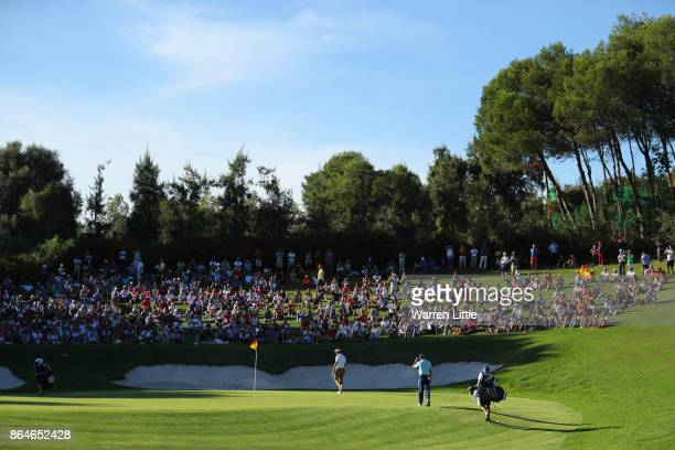 Sergio Garcia of Spain walks to the 17th green during day three of the Andalucia Valderrama Masters at Real Club Valderrama on October 21 2017 in...