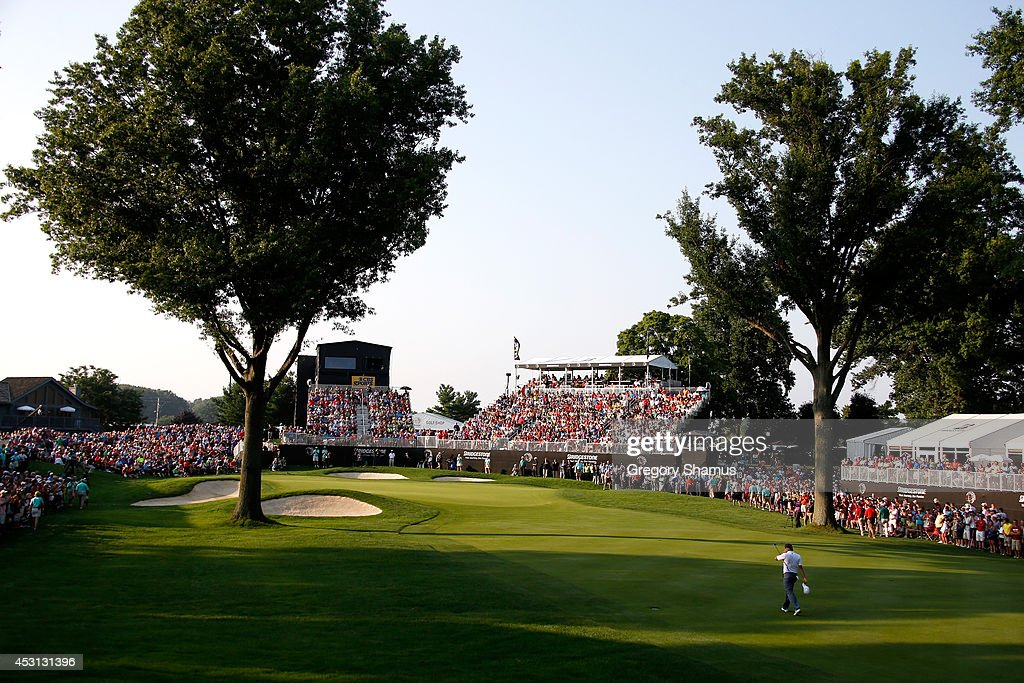 Sergio Garcia of Spain walks up the 18th fairway during the final round of the World Golf Championships-Bridgestone Invitational at Firestone Country Club South Course on August 3, 2014 in Akron, Ohio.