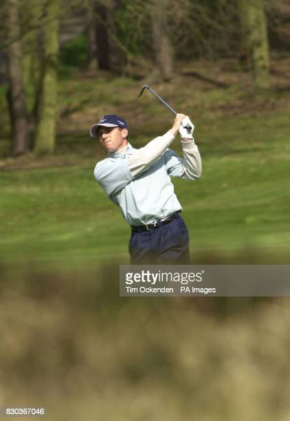 Sergio Garcia playing the 6th hole during the final round of the Seve Ballesteros Trophy 2000 Tournament at Sunningdale Sunday 16 April 2000 PA photo...