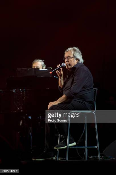 Sergio Godinho performs during Juntos por Todos solidarity concert for the victims of the forest fires in the Pedrogao Grande region of Portugal on...
