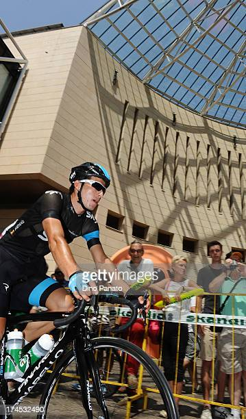 Sergio Henao of Colombia and SKY Procycling atteds prior the start stage one the 2013 Tour de Pologne on July 27 2013 in Madonna di Campiglio Italy