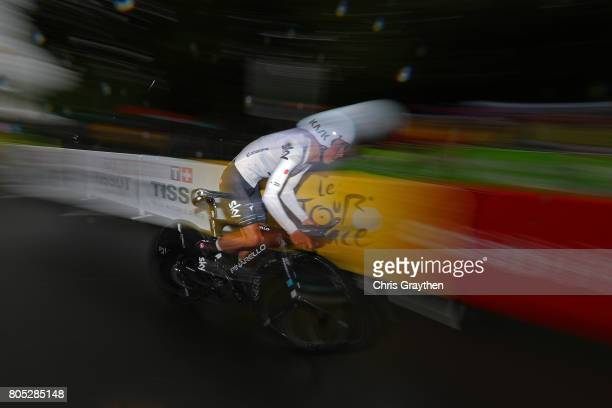 Sergio Henao of Colombia and Team Sky competes during stage one of Le Tour de France 2017 a 14km individual time trial on July 1 2017 in Duesseldorf...