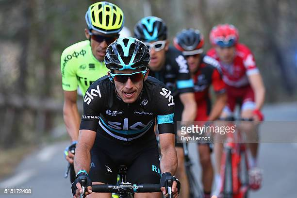 Sergio Henao of Colombia and Team SKY in action on stage 6 of the 2016 ParisNice a 177km stage from Nice to La Madone d'Utelle on March 12 2016 on...