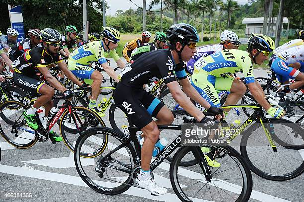 Sergio Henao of Team SKY competes during Stage 8 of the 2015 Le Tour de Langkawi from Kuala Kubu Bharu to Kuala Lumpur with a distance of 961 km on...
