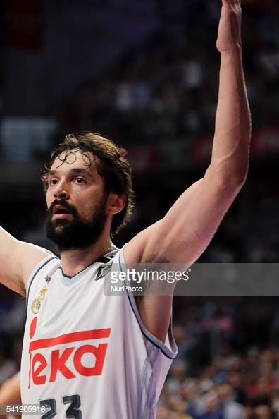sergio llull of Real Madrid in action during the play off round 3 match between FC Barcelona Lassa and Real Madrid at Barclaycard Center in Madrid...