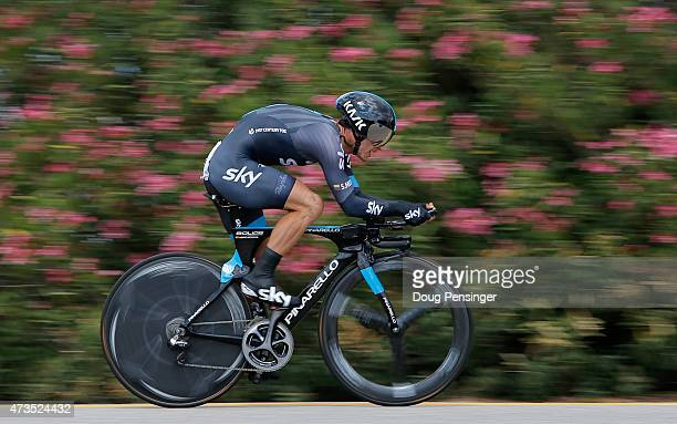 Sergio Luis Henao Montoya of Columbia riding for Team Sky races to seventh place in the individual time trial during stage six and fifth place...