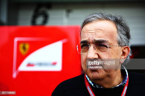 Sergio Marchionne CEO of FIAT and Chairman of Ferrari in the Paddock ahead of the Formula One Grand Prix of China at Shanghai International Circuit...