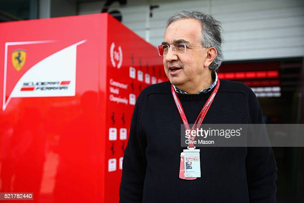 Sergio Marchionne CEO of FIAT and Chairman of Ferrari in the Pitlane ahead of the Formula One Grand Prix of China at Shanghai International Circuit...