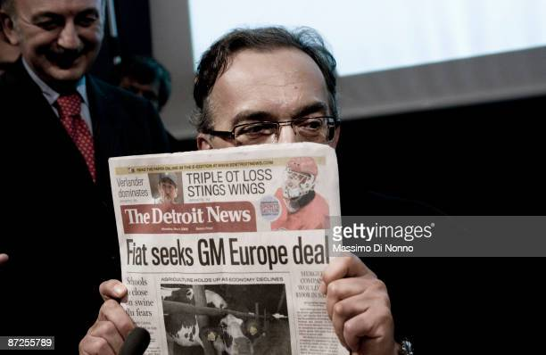 Sergio Marchionne CEO of Fiat Group speaks at the Turin 2009 International Book Fair on May 15 2009 in Turin Italy