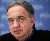 DETROIT MI Sergio Marchionne CEO of FiatChrysler holds a press conference at the 2015 North American International Auto Show January 12 2015 in...