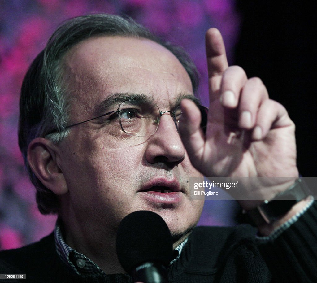 <a gi-track='captionPersonalityLinkClicked' href=/galleries/search?phrase=Sergio+Marchionne&family=editorial&specificpeople=608333 ng-click='$event.stopPropagation()'>Sergio Marchionne</a>, Chairman and CEO , Chrysler Group LLC, and CEO, Fiat S.p.A., speaks at the Inforum 11th Annual Auto Show Breakfast at the Detroit Mariott Renaissance Center January 18, 2013 in Detroit, Michigan. The topics of the speech were Marchionne's leadership principles, winning the talent war with diversity and inclusion, and the making of Chrysler's Superbowl ads.