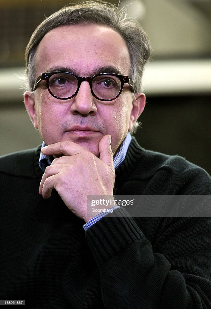 <a gi-track='captionPersonalityLinkClicked' href=/galleries/search?phrase=Sergio+Marchionne&family=editorial&specificpeople=608333 ng-click='$event.stopPropagation()'>Sergio Marchionne</a>, chairman and chief executive officer of Chrysler Group LLC, listens during remarks at the Toledo Assembly Complex in Toledo, Ohio, U.S., on Wednesday, Nov. 16, 2011. Chrysler Group LLC said it will invest $1.7 billion to update a Jeep sport-utility vehicle and add a second shift at its factory in Toledo in the third quarter of 2013. Photographer: Jeff Kowalsky/Bloomberg via Getty Images