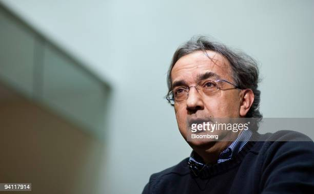 Sergio Marchionne chief executive officer of Chrysler Group LLC and Fiat SpA speaks during an interview in Washington DC US on Monday Dec 7 2009...