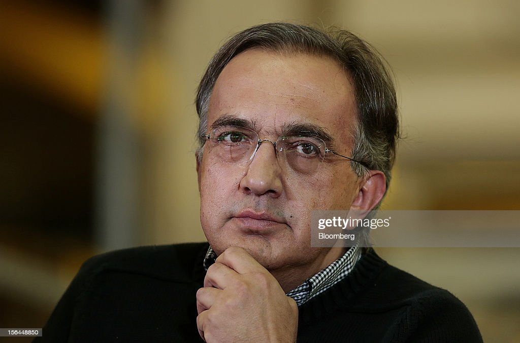 <a gi-track='captionPersonalityLinkClicked' href=/galleries/search?phrase=Sergio+Marchionne&family=editorial&specificpeople=608333 ng-click='$event.stopPropagation()'>Sergio Marchionne</a>, chief executive officer of Fiat SpA and Chrysler Group LLC, listens during an event at the Chrysler Mack I Engine Plant in Detroit, Michigan, U.S., on Thursday, Nov. 15, 2012. Chrysler Group LLC, the automaker planning to merge with Fiat SpA, will add 1,250 workers at three U.S. plants to boost output of pickups and engines. Photographer: Jeff Kowalsky/Bloomberg via Getty Images