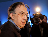 Sergio Marchionne Chrysler Group LLC Chief Executive Officer and Fiat CEO arrives to address executives and the news media at the Chrysler Technical...