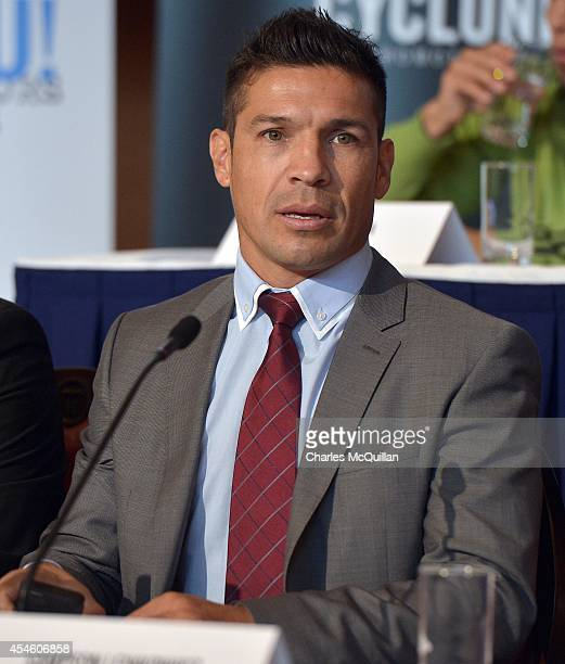 Sergio Martinez attends the IBF superbantamweight prefight press conference between world champion Kiko Martinez and the number one contender Carl...