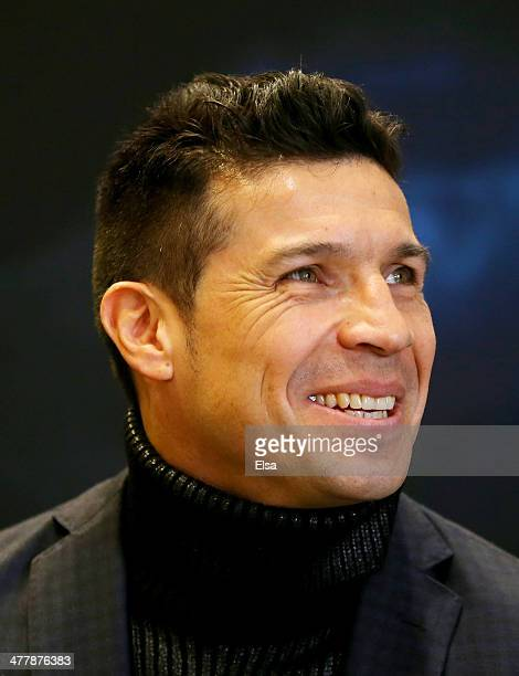 Sergio Martinez looks on during a press conference in Chase Square at Madison Square Garden on March 11 2014 in New York City Miguel Cotto and...