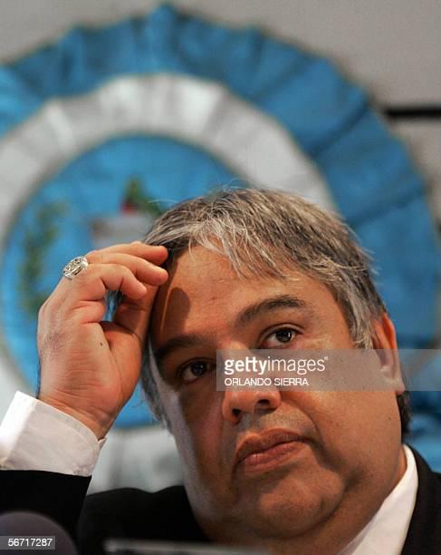 Sergio Morales Procurador de los Derechos Humanos en Guatemala presenta su informe anual circunstanciado a la nacion en Ciudad de Guatemala el 01 de...