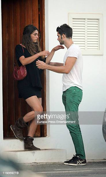 Sergio Mur and Olivia Molina are seen sighting on July 19 2011 in Ibiza Spain