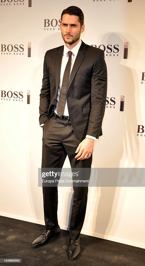 Sergio Mur attends the launch of 'Boss Nuit Pour Femme' fragrance on October 29, 2012 in Madrid, Spain.