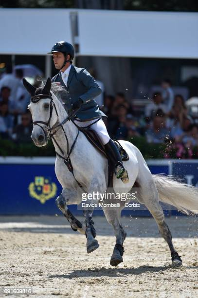 Sergio of Spain riding IRON MAN 111 during the Piazza di Siena Bank Intesa Sanpaolo in the Villa Borghese on May 27 2017 in Rome Italy