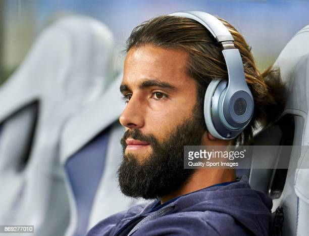 Sergio Oliveira of FC Porto looks on prior to the UEFA Champions League group G match between FC Porto and RB Leipzig at Estadio do Dragao on...