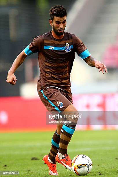 Sergio Oliveira of Porto runs with the ball during the Colonia Cup 2015 match between FC Porto and Stoke City FC at RheinEnergieStadion on August 2...