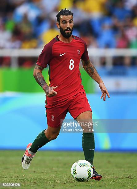 Sergio Oliveira of Portugal in action during the Olympic Men's Football match between Honduras and Portugal at Olympic Stadium on August 7 2016 in...