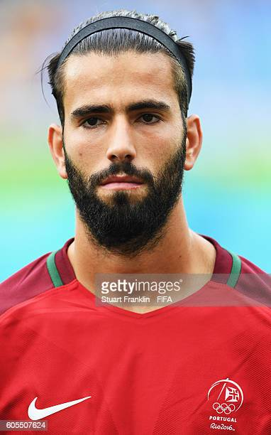 Sergio Oliveira of Portugal looks on during the Olympic Men's Football match between Honduras and Portugal at Olympic Stadium on August 7 2016 in Rio...