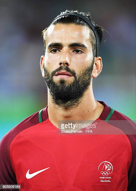 Sergio Oliveira of Portugal looks on during the Olympic Men's Football match between Portugal and Argentina at Olympic Stadium on August 4 2016 in...