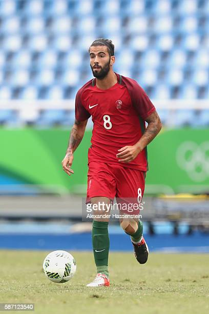 Sergio Oliveira of Portugal runs with the ball during the Men's Group D first round match between Honduras and Portugal during the Rio 2016 Olympic...