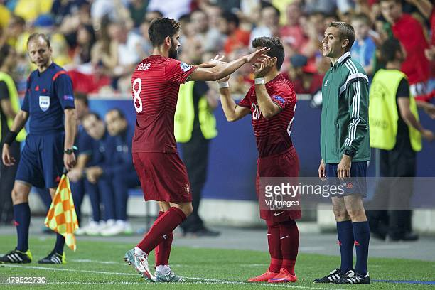 Sergio Oliveira of Portugal Toze of Portugal during the UEFA European Under21 Championship final match between Sweden and Portugal on June 30 2015 at...