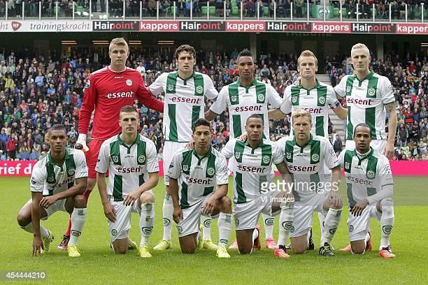 Sergio Padt of FC Groningen Eric Botteghin of FC Groningen Danny Hoesen of FC Groningen Maikel Kieftenbeld of FC Groningen Nick van der Velden of FC...