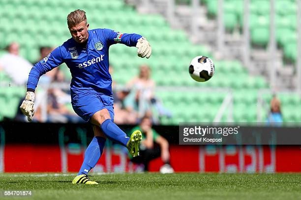 Sergio Padt of Groningen kicks the ball during the friendly match between FC Groningen an FC Southampton at Euroborg Stadium on July 30 2016 in...