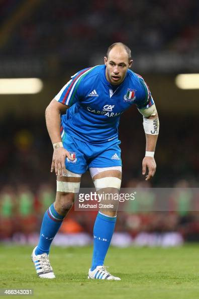 Sergio Parisse of Italy during the RBS Six Nations match between Wales and Italy at the Millenium Stadium on February 1 2014 in Cardiff Wales